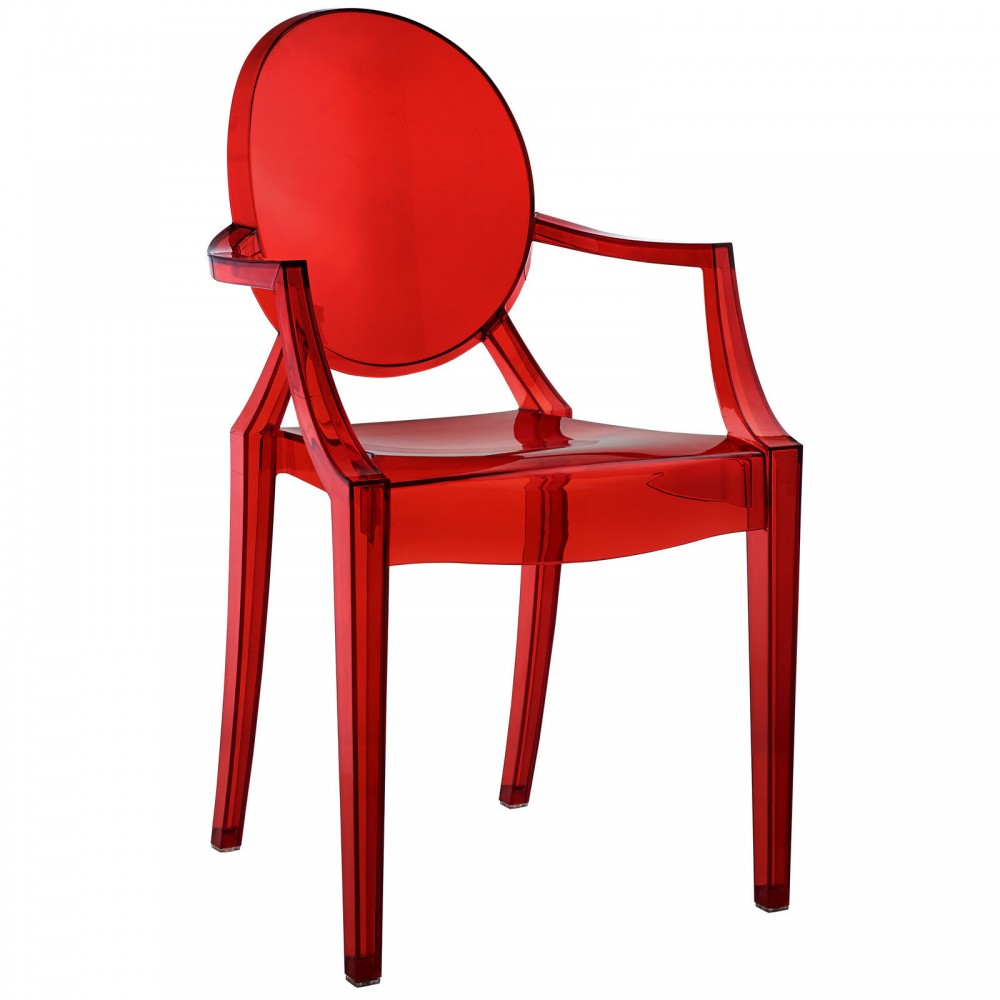 Red Transparent Throne Chair  1000x1000