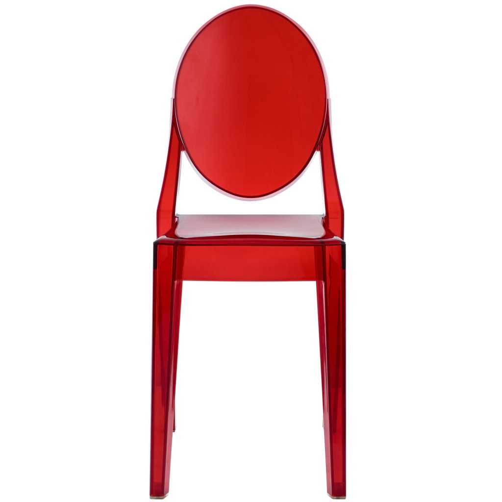 Red Transparent Throne Side Chair 2