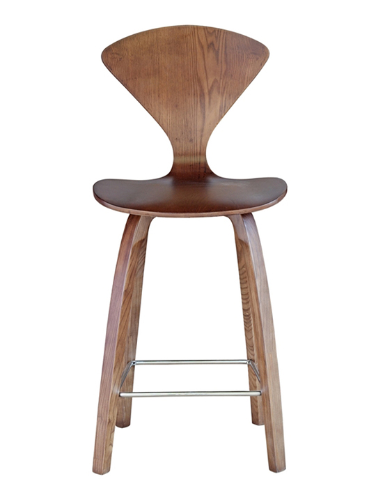 Walnut Spider Barstool