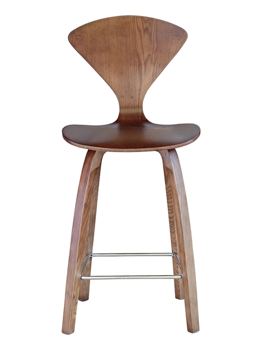Walnut Spider Counter Stool