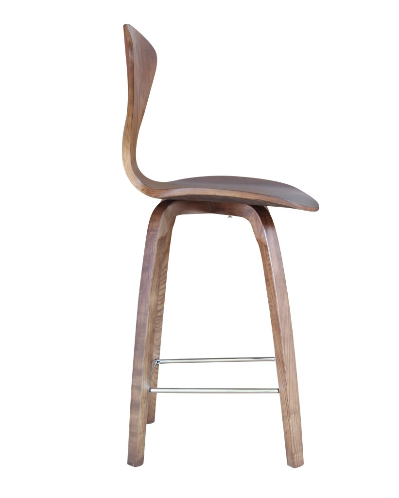 Walnut Wood Spider Barstool 2