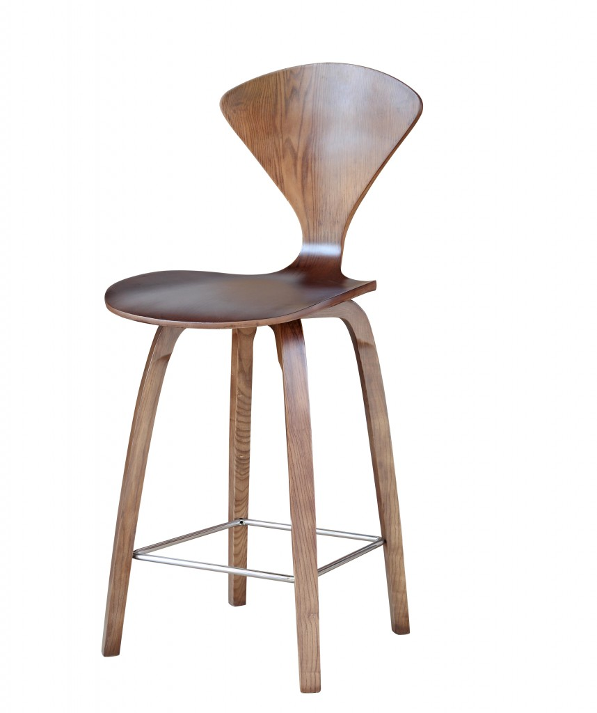 Walnut Wood Spider Barstool 3