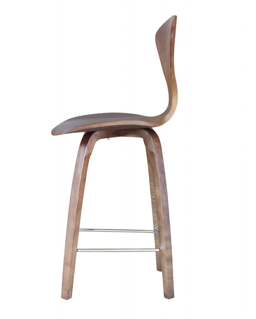 Walnut Wood Spider Barstool 4