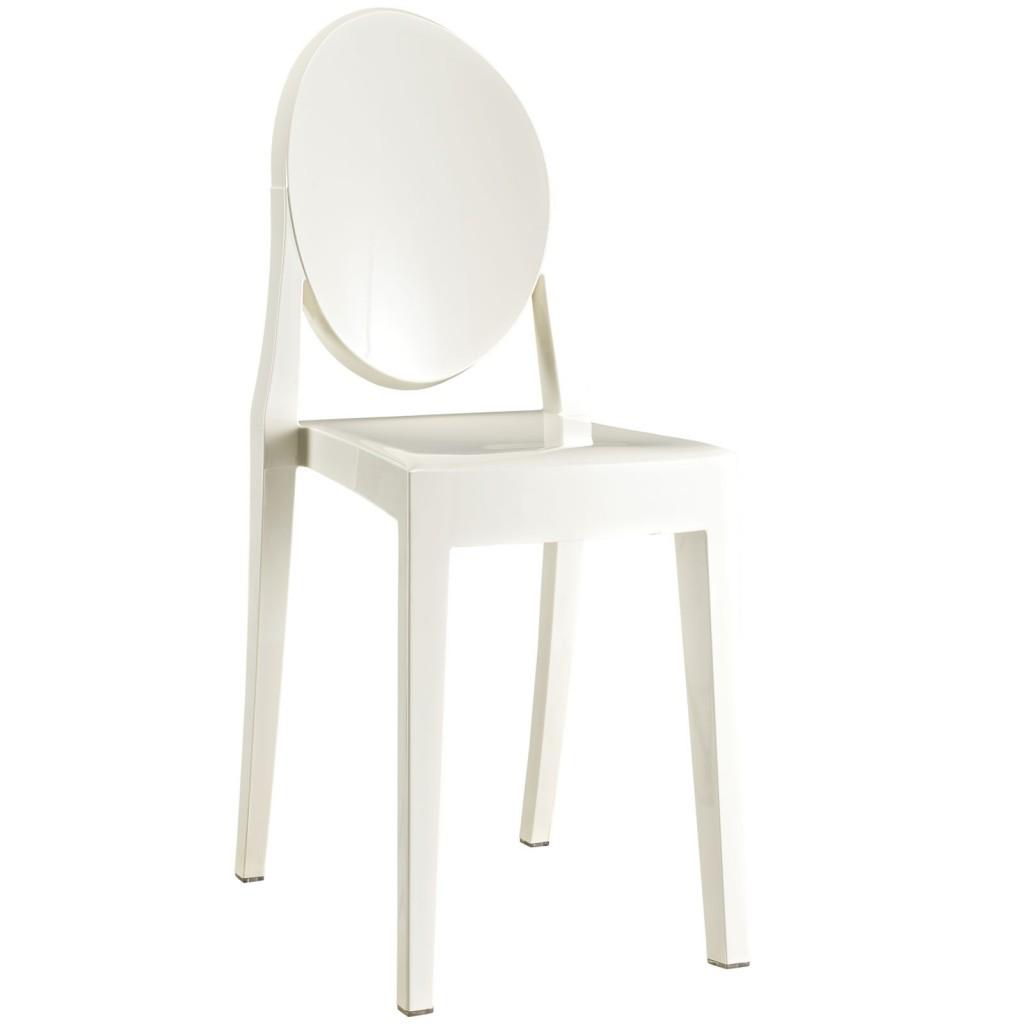 White Throne Side Chair 3