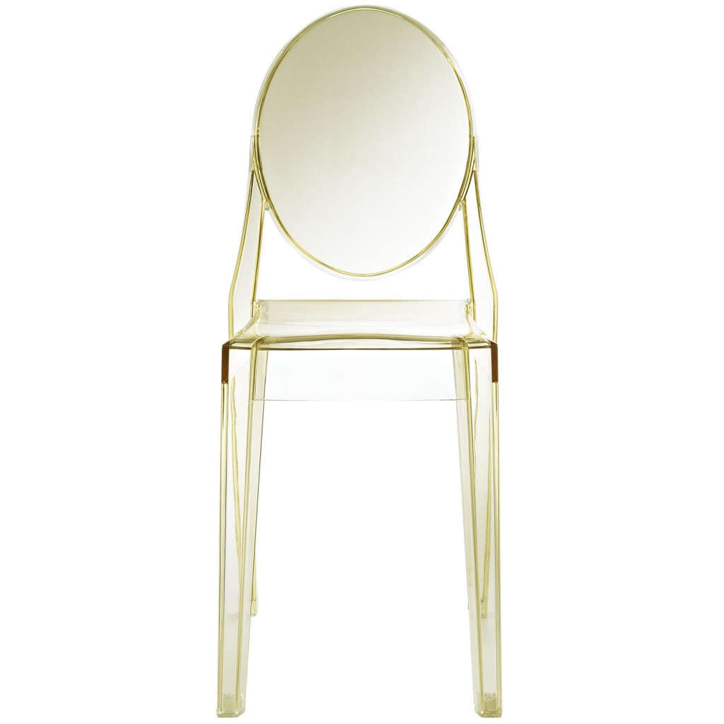 Yellow Transparent Throne Side Chair 2