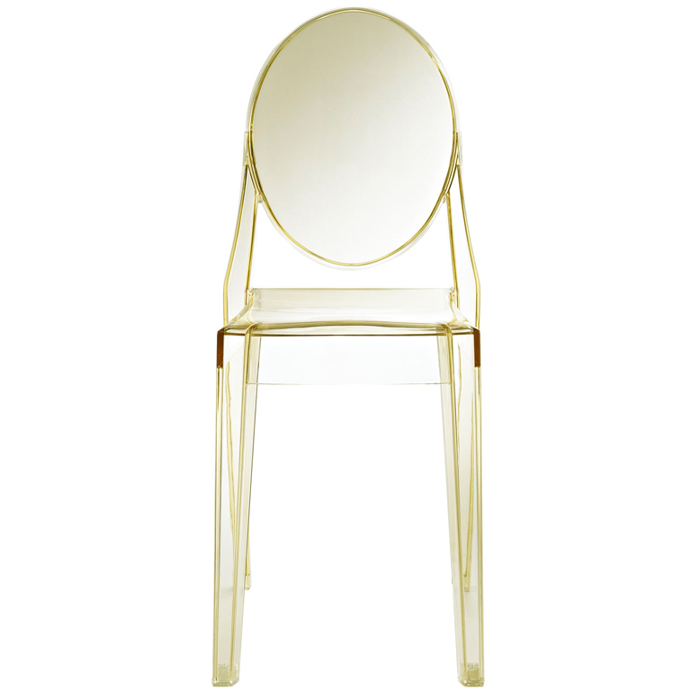 Yellow Transparent Throne Side Chair1