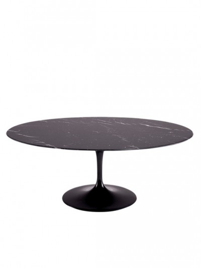 Black Brilliant Marble Oval Dining Table 78 e1435095316392