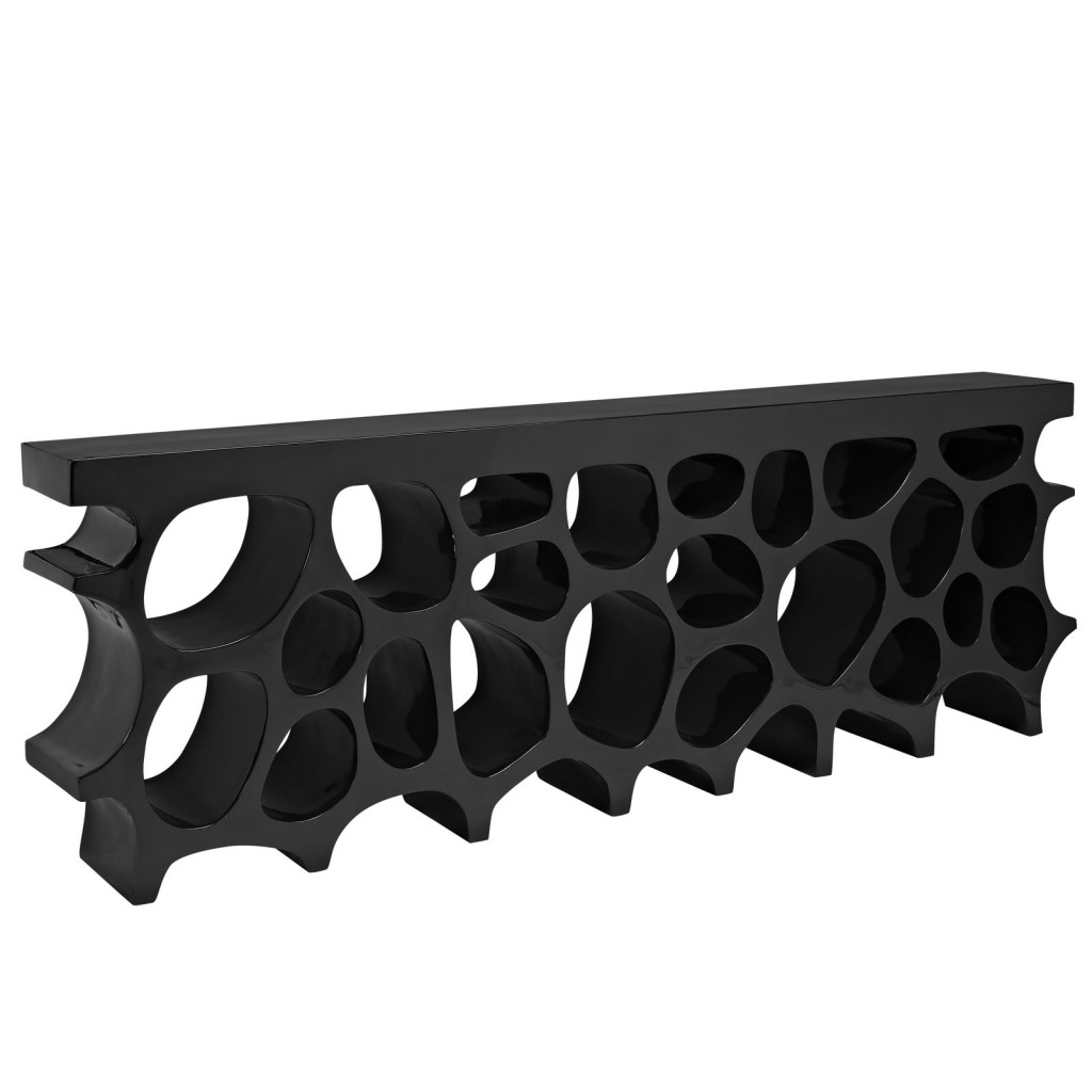 Black Hive Console Table