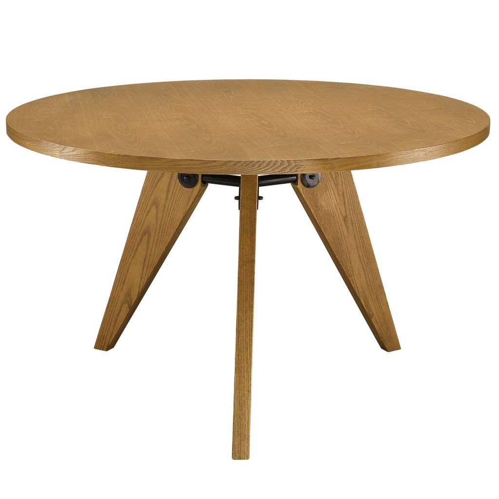 Wood Round Dining Table: Grove Wood Round Dining Table