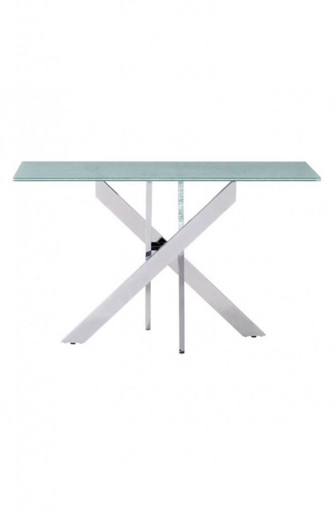 Regency Glass Chrome Console Table 12