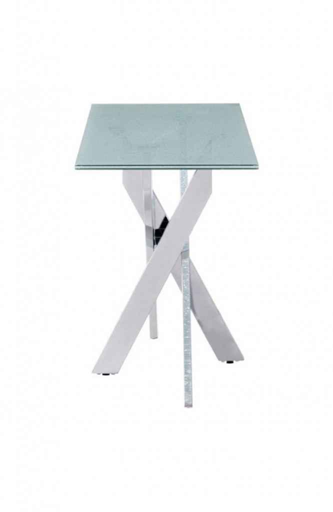 Regency Glass Chrome Console Table 3