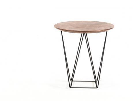 Walnut Wood Wire SIde Table 2 461x350