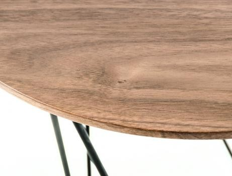 Walnut Wood Wire SIde Table 3 461x350