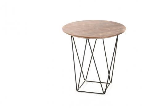 Walnut Wood Wire SIde Table 461x350