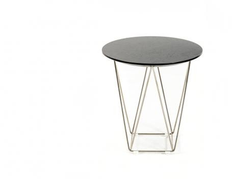 Wenge Wood Wire Side Table 2 461x350