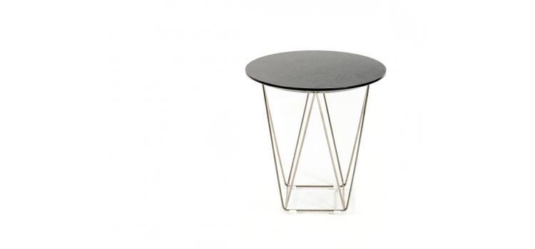 Wenge Wood Wire Side Table 2