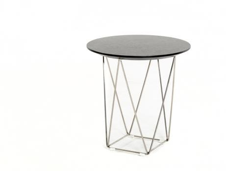 Wenge Wood Wire Side Table 461x350