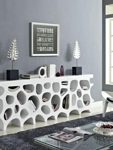 White Hive Console Table 3 461x614