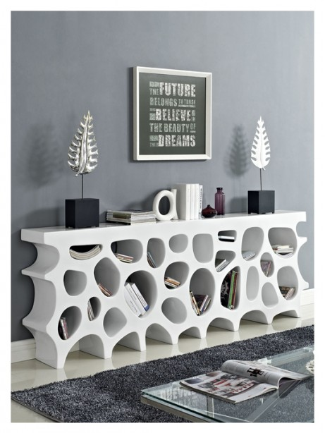 White Hive Console Table1 461x614