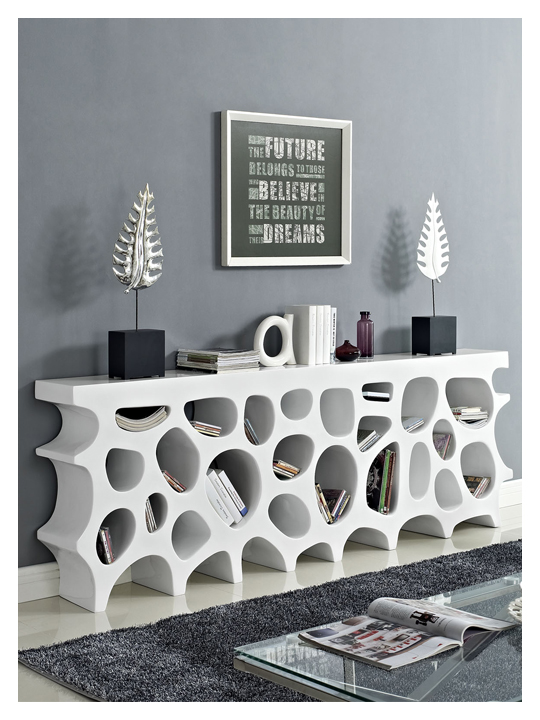 White Hive Console Table1