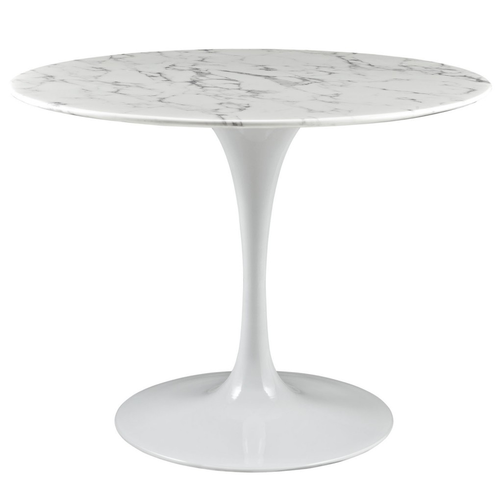 Brilliant White Marble Table 40 inch