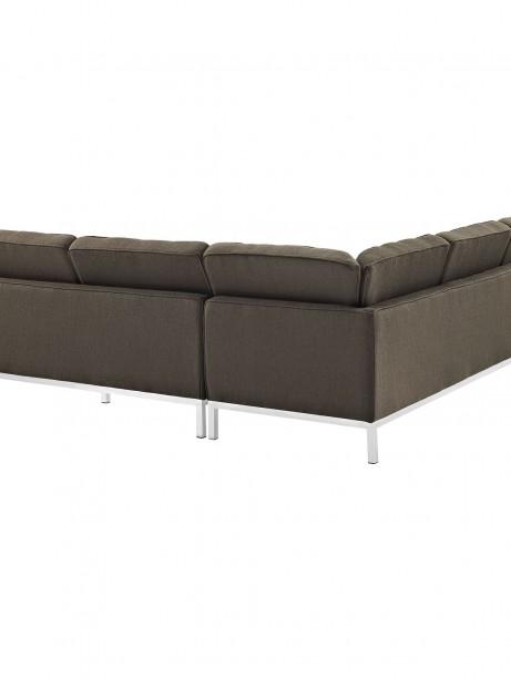 Bateman Wool L Shaped Sectional Sofa Brown 2 461x614