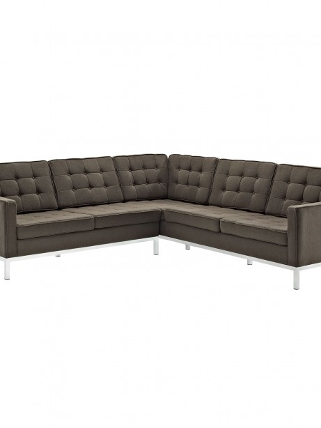 Bateman Wool L Shaped Sectional Sofa Brown 461x614