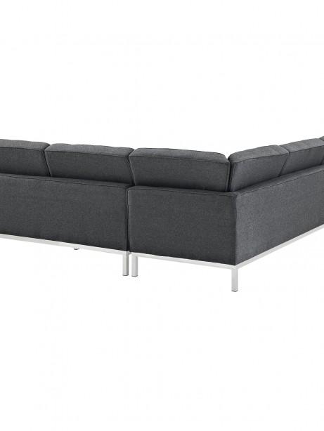 Bateman Wool L Shaped Sectional Sofa Dark Gray 2 461x614