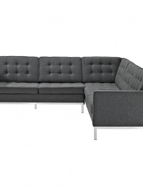 Bateman Wool L Shaped Sectional Sofa Dark Gray 3 461x614