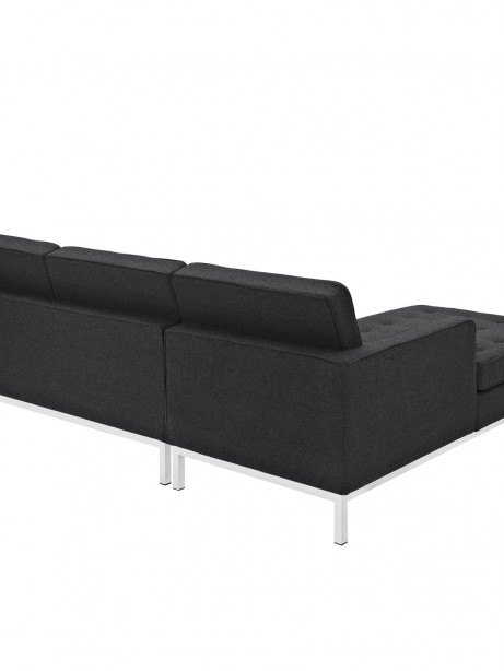 Bateman Wool Left Arm Sectional Sofa Dark Gray 3 461x614