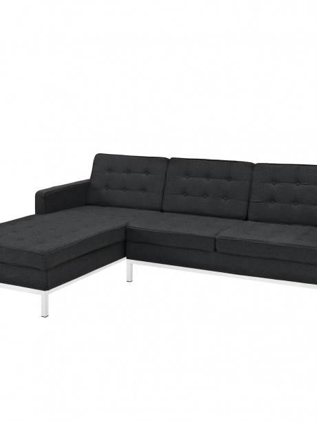 Bateman Wool Left Arm Sectional Sofa Dark Gray 461x614