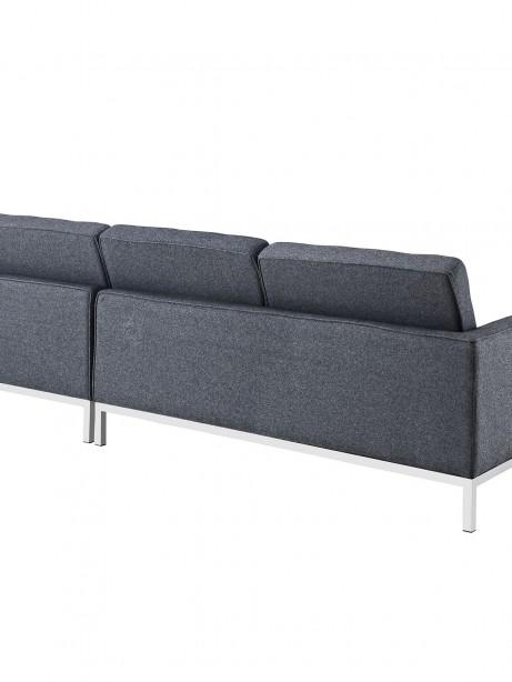 Bateman Wool Right Arm Sectional Sofa Dark Gray 2 461x614