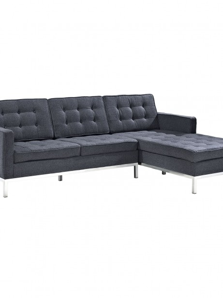Bateman Wool Right Arm Sectional Sofa Dark Gray 461x614