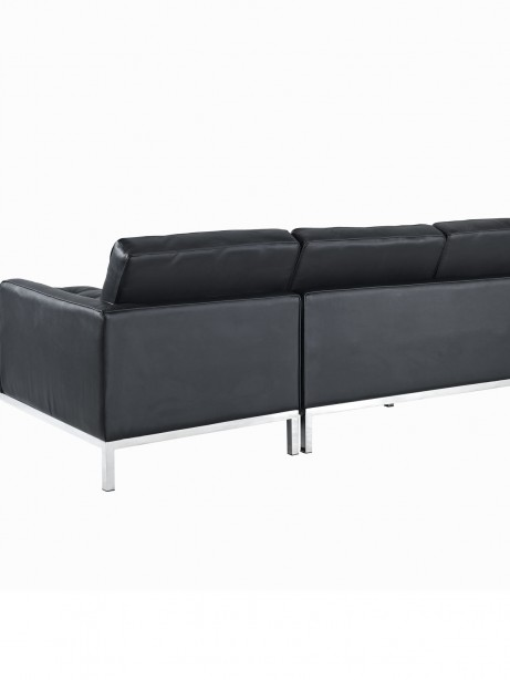 Black Bateman Leather Right Arm Sectional Sofa 2 461x614