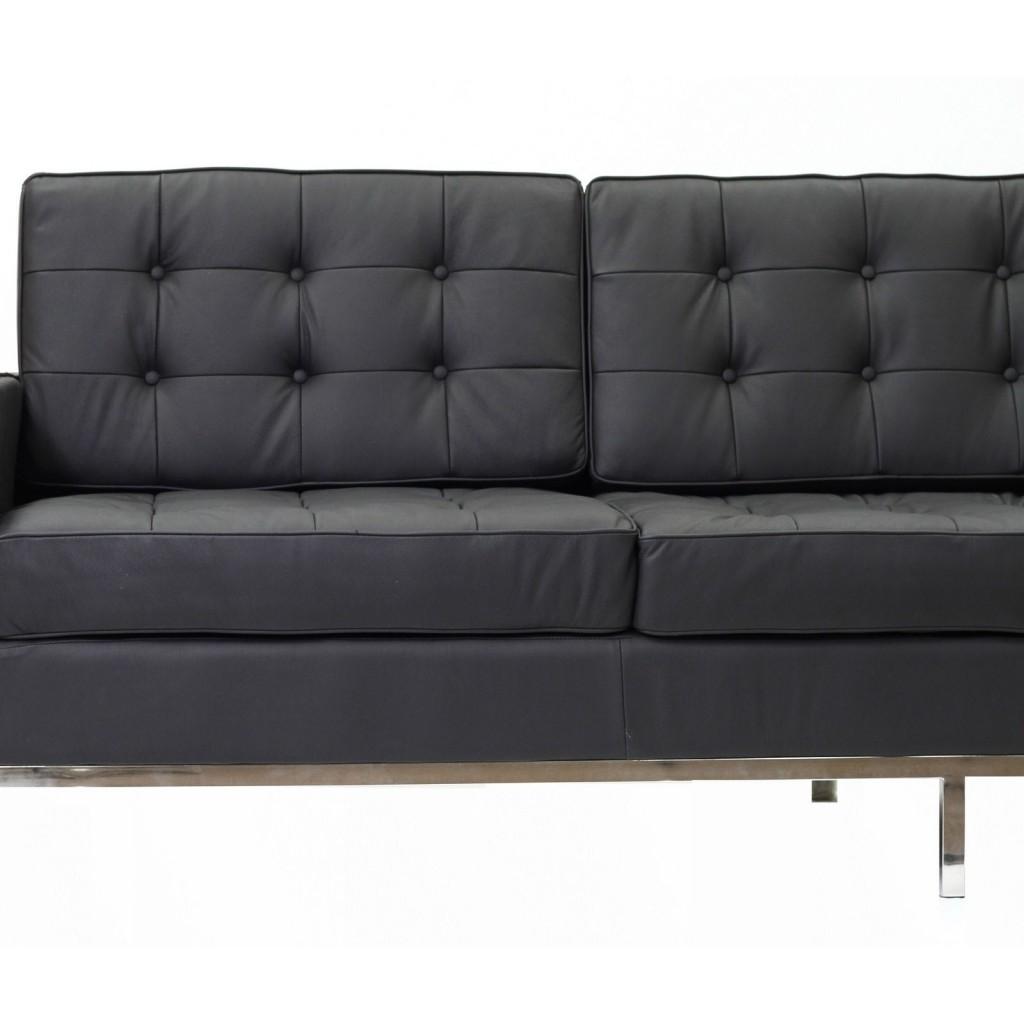 Black Bateman Leather Sofa 1