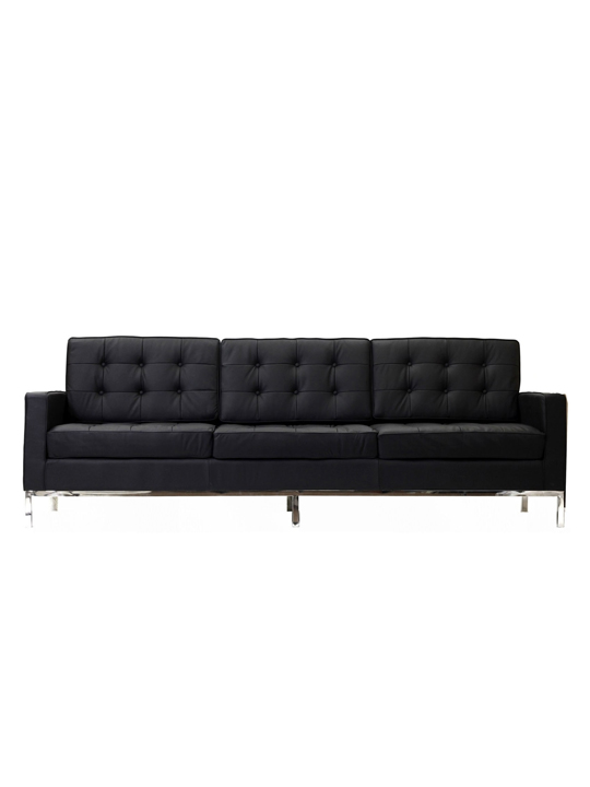 Black Bateman Leather Sofa1