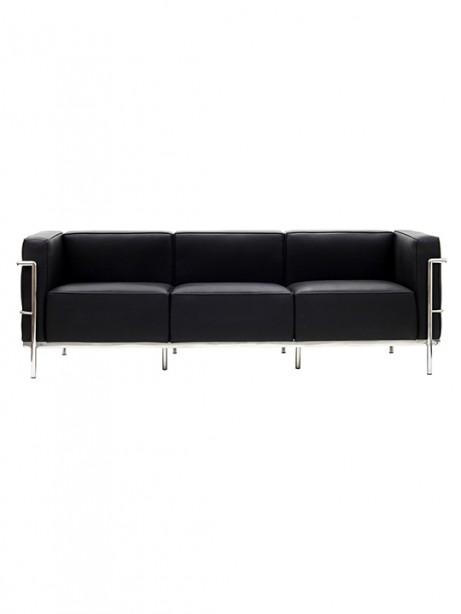 Black Simple Large Leather Sofa1 461x614