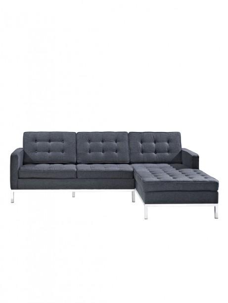 Dark Grey Bateman Wool Right Arm Sectional 461x614