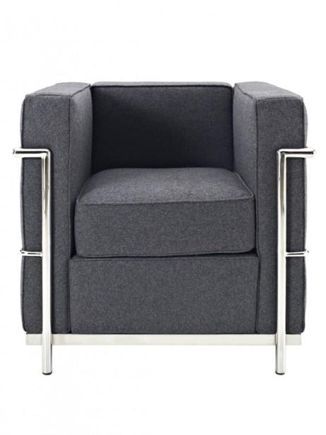 Dark Grey Simple Medium Wool Armchair 461x614