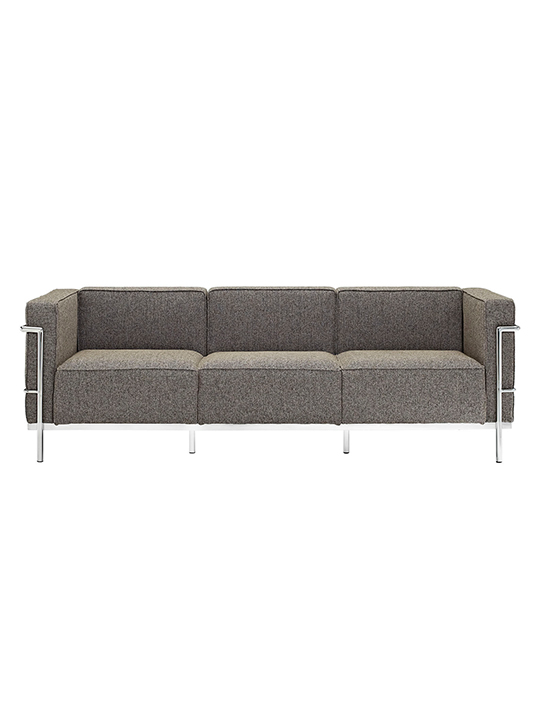 Oatmeal Simple Large Wool Sofa1