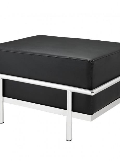 Simple Large Leather Ottoman Black 2 461x614