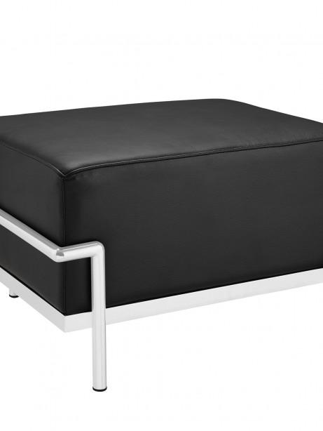 Simple Large Leather Ottoman Black 461x614