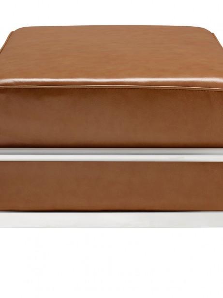 Simple Large Leather Ottoman Tan 2 461x614