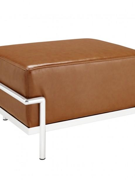 Simple Large Leather Ottoman Tan 461x614