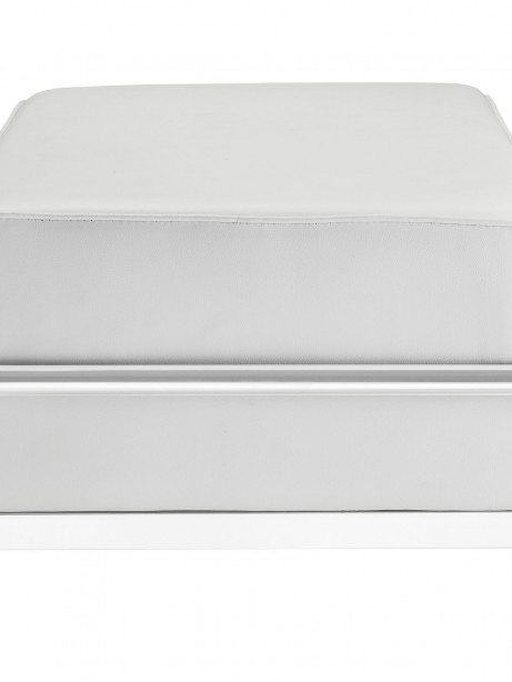 Simple Large Leather Ottoman White 2 461x614