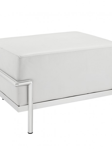 Simple Large Leather Ottoman White 461x614