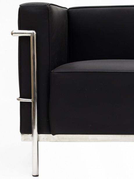 Simple Large Leather Sofa Black 1 461x614
