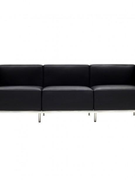 Simple Large Leather Sofa Black 461x614