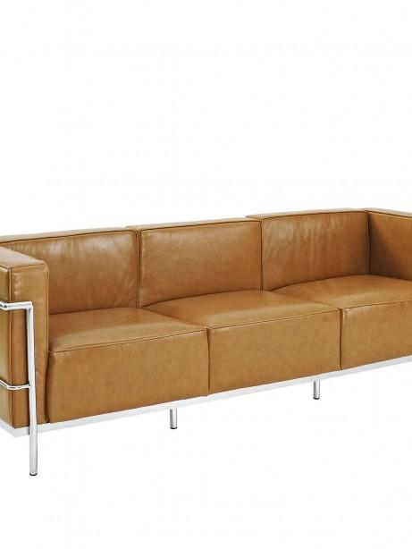 Simple Large Leather Sofa Tan 1 461x614