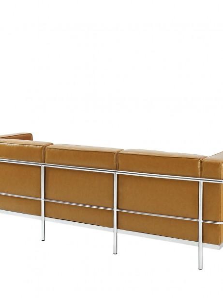 Simple Large Leather Sofa Tan 2 461x614